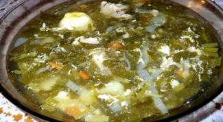 Как готовить суп с щавелем