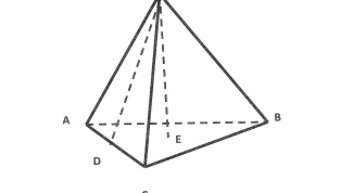 How to find the height in a triangular pyramid