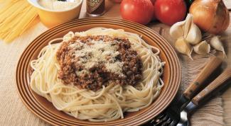 Как приготовить спагетти с фаршем