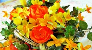 Как составить букет из живых цветов