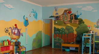 How to decorate the walls of the kindergarten