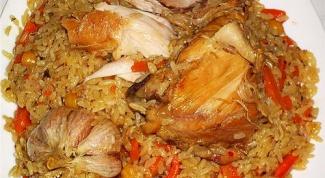Как вкусно приготовить плов из курицы