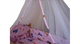 Как надеть балдахин на кроватку