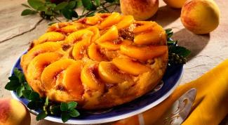 Как готовить торт с персиками