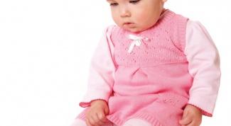 Как связать детское платье спицами