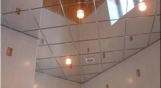 Как клеить потолочную плитку по диагонали