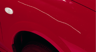 How to get rid of scratches on car