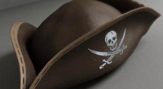 Как сделать пиратскую треуголку