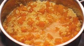 Как приготовить пшенную кашу с тыквой