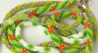 How to weave beaded harness