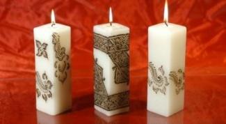 Как сделать декоративные свечи