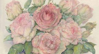 Как нарисовать розу красками