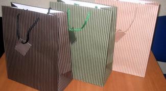 Как сделать подарочный пакет