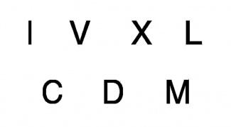 Как набрать римские цифры на клавиатуре