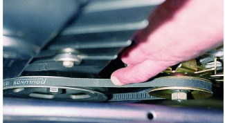 How to tighten the alternator belt on Kalina