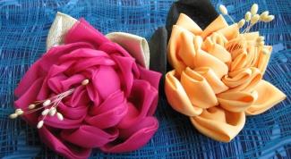 Как делать розочки из ткани