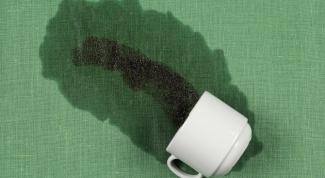Как отстирать пятна от чая