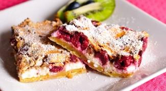 Как готовить пирог с вишнями