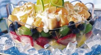 Как готовить фруктовый салат
