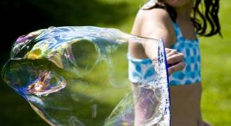 Как надуть мыльные пузыри
