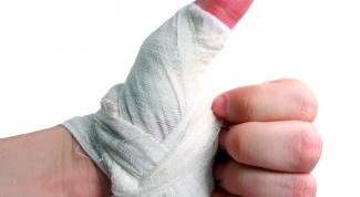 Как перебинтовать палец