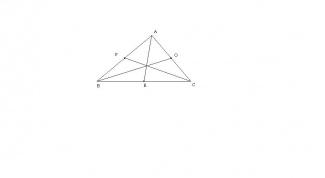 Как найти медиану треугольника по его сторонам