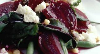 Как готовить салат свекольный с орехами