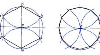 Как построить правильный двенадцатиугольник