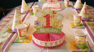 праздновать 1 год ребёнку