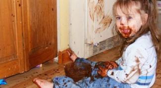 Как отстирать шоколад