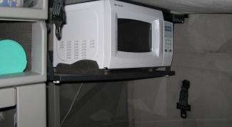 Как повесить микроволновку