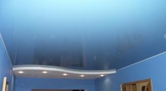 Как собрать натяжной потолок