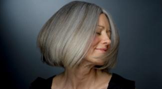 Как окрасить седые волосы