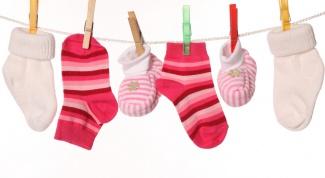 Как зашить носок