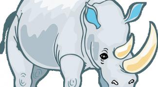 Как нарисовать носорога