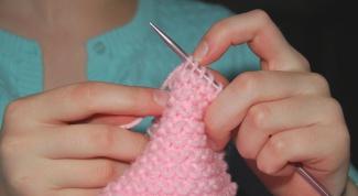 Как закончить вязать шарф спицами