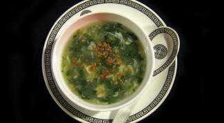 Как приготовить зелёный суп