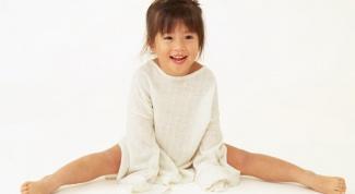 Как посадить на шпагат ребенка