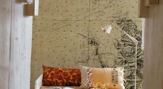 Как повесить карту на стену