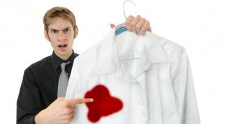 Как отстирать пятна крови