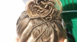 Как плести жгутики из волос