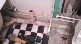 Как разобрать канализацию