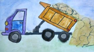 Как нарисовать грузовик