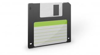 Как вставить дискету