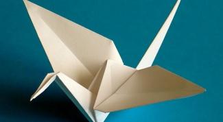 Как сложить птичку из бумаги