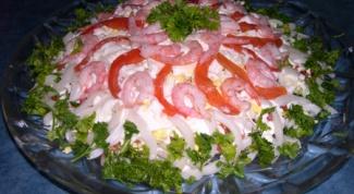 Как готовить салат из кальмаров