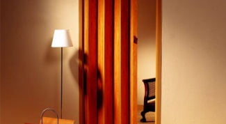 Как сделать дверь гармошку