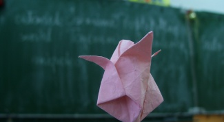 Как сделать бумажный тюльпан
