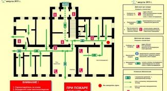 Как нарисовать план эвакуации при пожаре