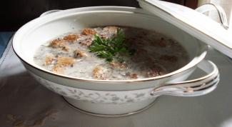 Как приготовить суп-пюре из грибов